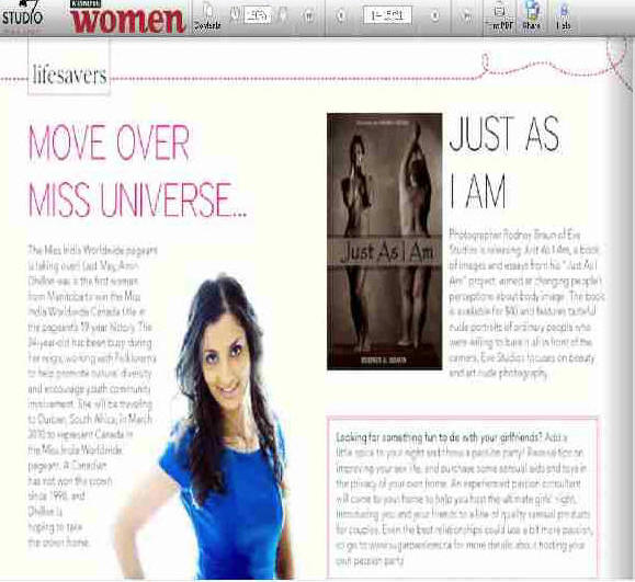 Featured in Winnipeg Woman Magazine