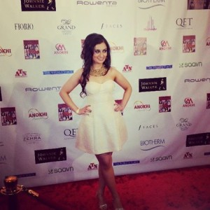 Rocking the ANOKHI Red Carpet!