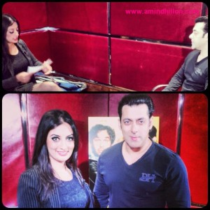 With the legend Salman!