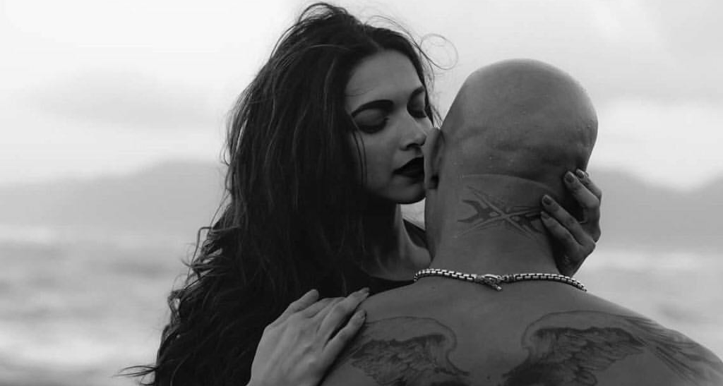 Romantic shot from the shoot with Vin Diesel