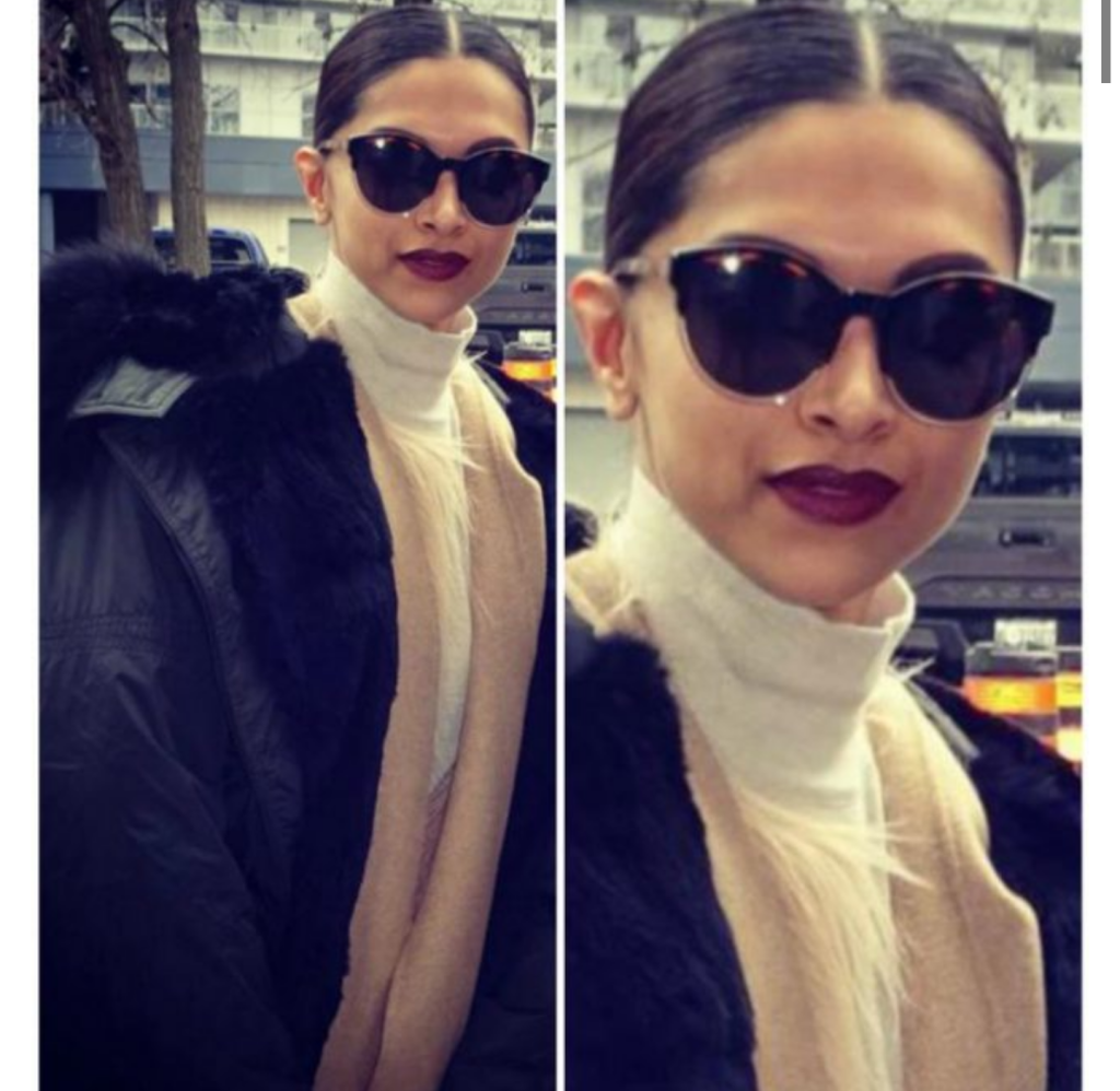 Deepika was spotted out and about on the streets of Toronto