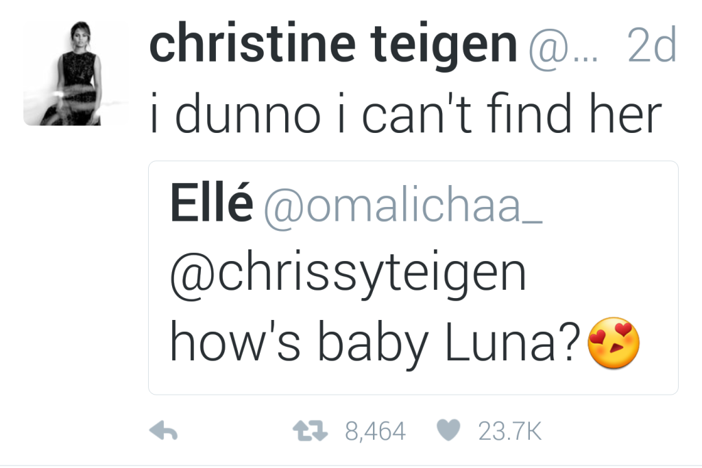 HAHA, Chrissy with the best comebacks