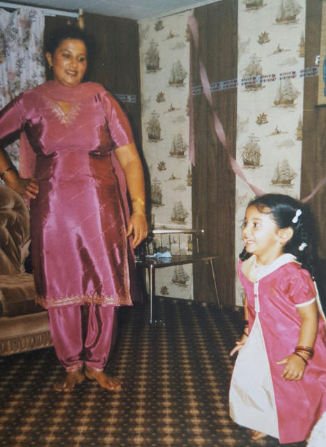 Mom and me being matchy-matchy back in the day!