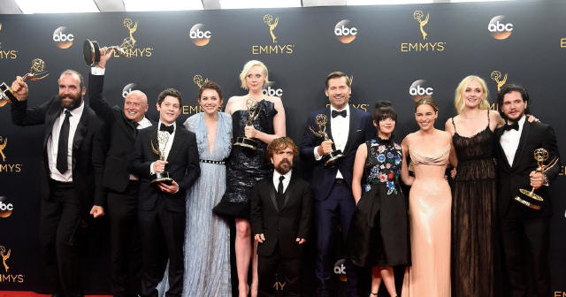 Game of Thrones celebrate their wins!