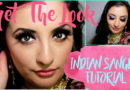 GET THE LOOK: BLUE AND SHIMMER INDIAN SANGEET MAKEUP TUTORIAL ft ROC & MONROE LASHES