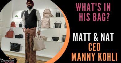 WHAT'S IN MY BAG ft. CEO of MATT & NAT Manny Kohli | Vegan Bag Collection