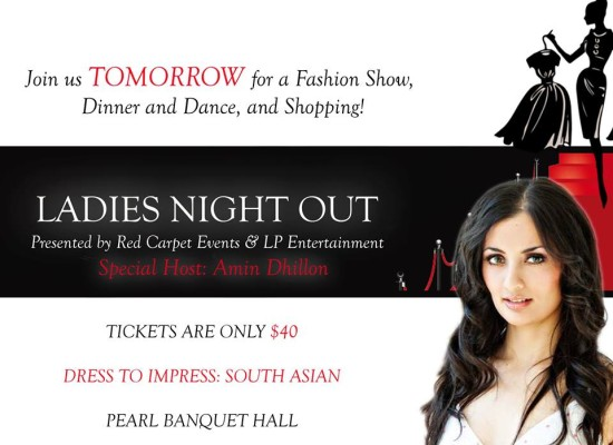 Ladies Night Out Fashion Show Poster