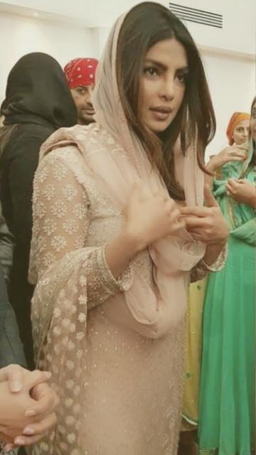 Priyanka earlier in the day