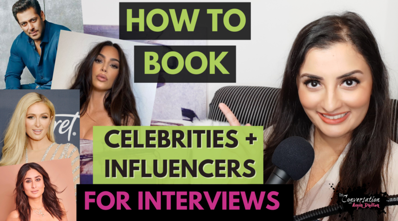How to Book & Interview Celebrities For Your Show | Step by Step Process | GROW Your YouTube FAST